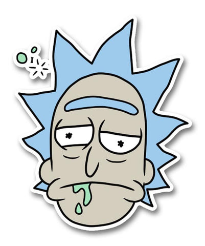 Rick and Morty, Drunk Rick Head Sticker
