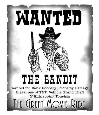 Great Movie Ride - Wanted: The Bandit T-Shirt