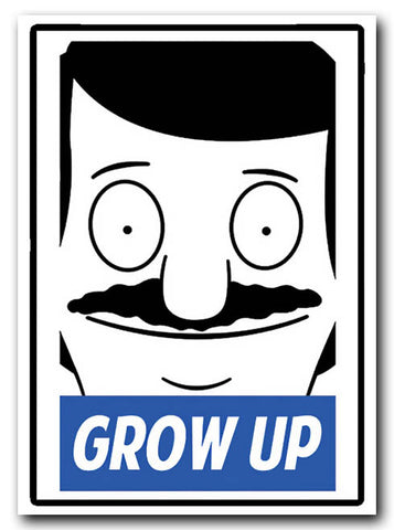 Bobs Burgers Gene Sticker - Grow Up