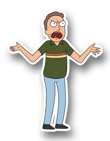 Rick and Morty, Jerry Angry Sticker