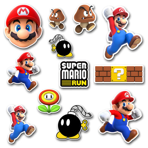 Mario Run Sticker Sheet