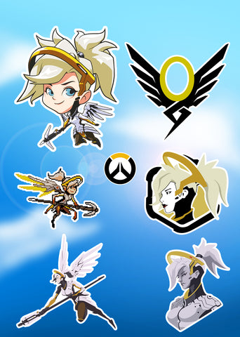 Overwatch Mercy Sticker Pack