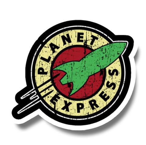 Distressed Planet Express Sticker