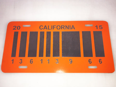 Barcode, Back to the Future 2 License Plate