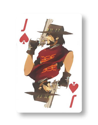 Overwatch McCree Playing card Sticker