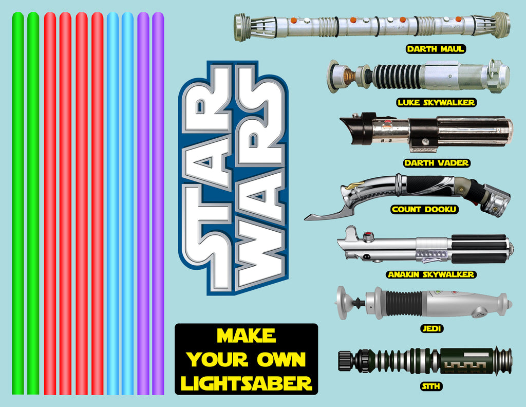 star wars make your own lightsaber sticker set chiliprint