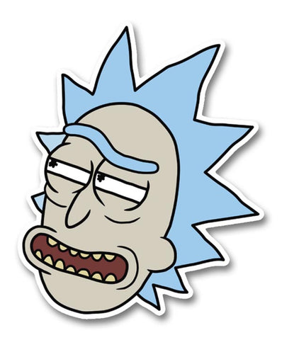 Rick and Morty Sly Rick Head Sticker