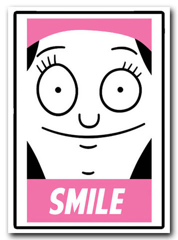 Bobs Burgers Louise Sticker - Smile