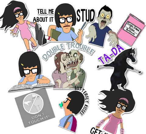 Bobs Burgers Tina Collection- 10 Stickers