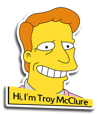 Simpsons Troy McClure Sticker