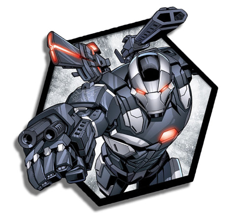 War Machine Hexagon Sticker