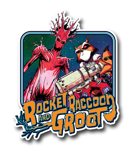 Rocket and Groot, Bad boys Sticker