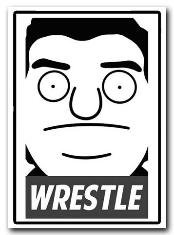 Bobs Burgers Zeke Sticker - Wrestle