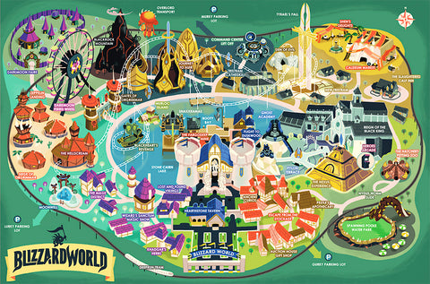 Blizzard World Map Poster