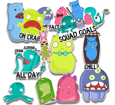 Kuchi Kopi and the Gang 13 Sticker Collection