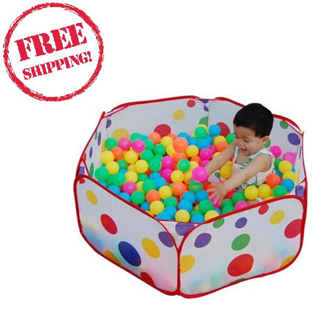 Pool Tent+50pcs/lot Colorful Soft Plastic Ocean Ball Pit Pool Game Children Kid