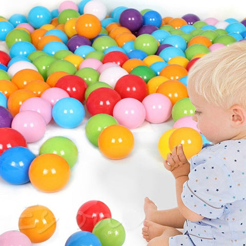 50pcs/lot Colorful Soft Plastic Ball Baby Funny Toys Water Pool Ocean Wave
