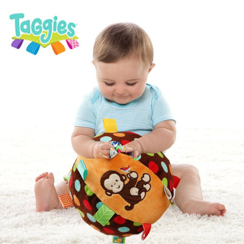 toys bell cloth ball Early Education teddy Developmental Soft Stuffed Plush Toys bed Rattles