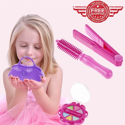 Make Up Box Girls Beauty Dressing Pretend Play Toy Set Kids Pink Makeup Toy