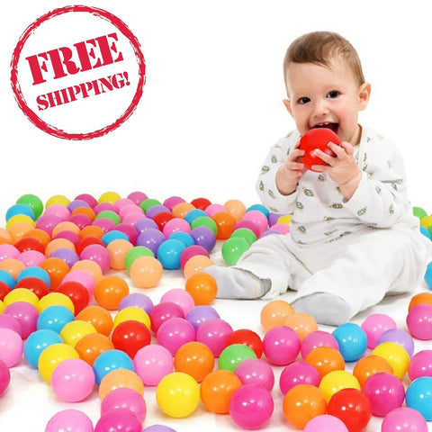 100pcs/lot Colorful Soft Plastic Ball Baby Funny Toys Water Pool Ocean Wave