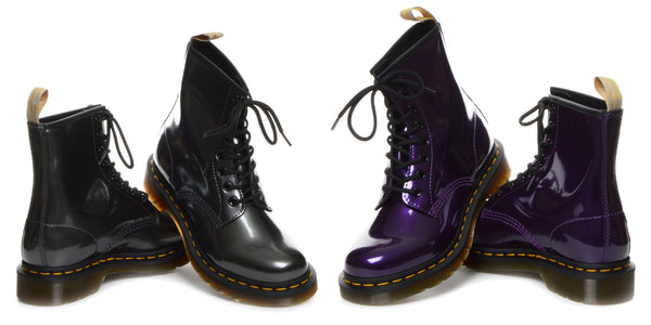 Chrome Metallic Vegan Dr Martens