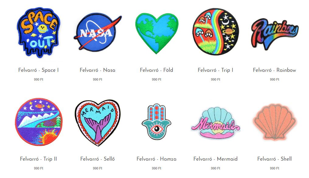 Patches  in our online store