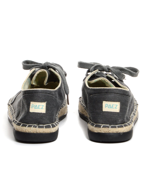 PAEZ Lite Laced Up - Stone Wash Black