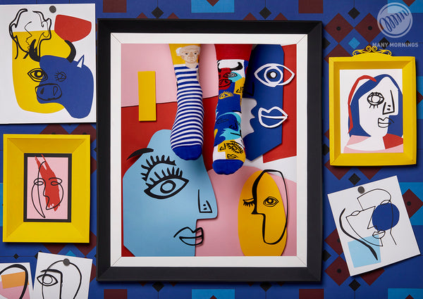 Picasso mintás Many Mornings zokni