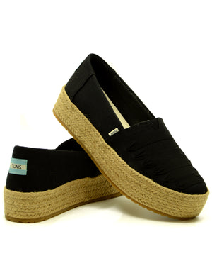 TOMS Valencia Black Canvas cipő
