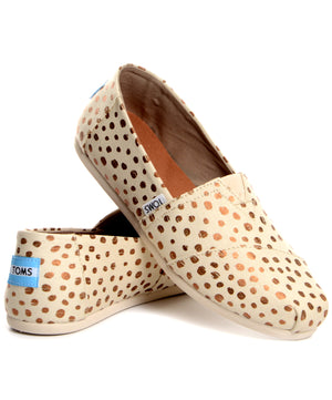 TOMS Classic - Natural Canvas Dots