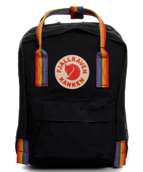 Fjallraven Kanken Mini - Black-Rainbow