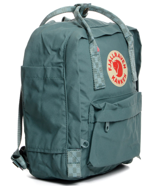 Fjallraven Kanken Mini - Frost Green-Chess Pattern