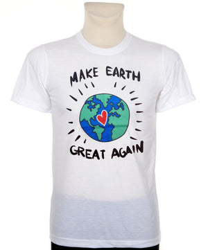 Make Earth Great Again feliratos póló