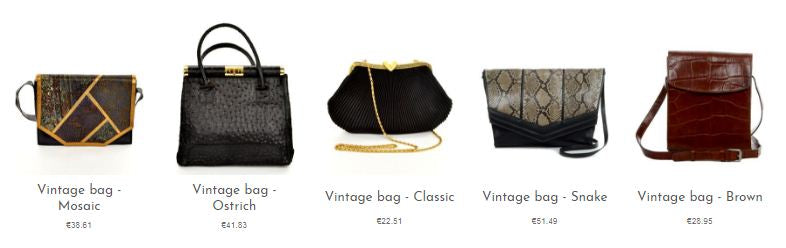 Beautiful, unique and sparkling vintage bags and purses from our online selection.