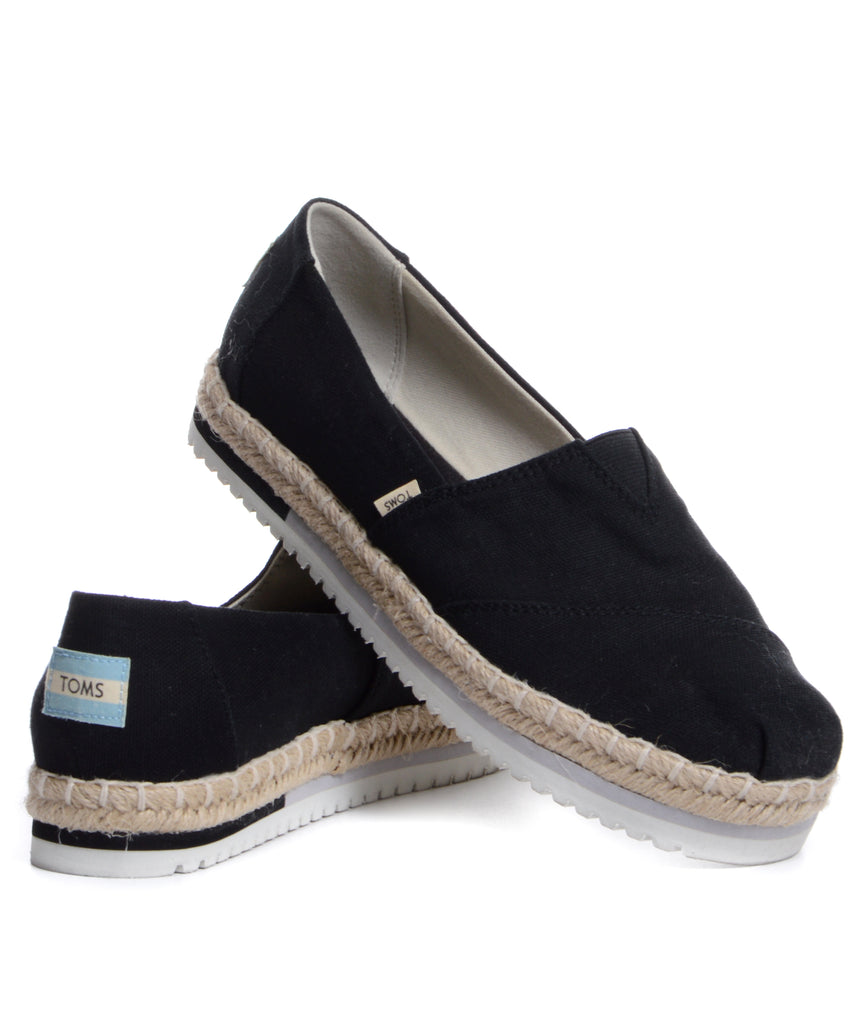 TOMS Platform Black Heritage Canvas