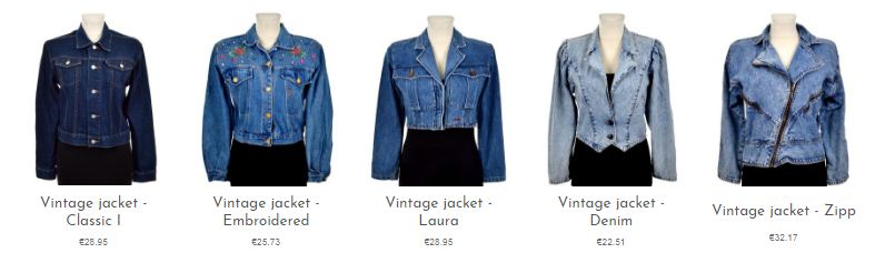 Vintage denim jackets online