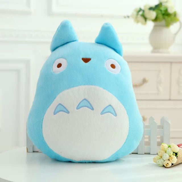 "15"" Blue Totoro Plush Pillow Cushion - Plushie Paradise - Plush"