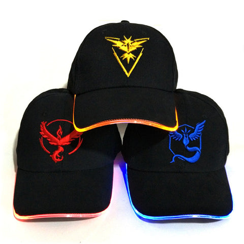 Pokemon Go Team Baseball Cap With LED Brim Light