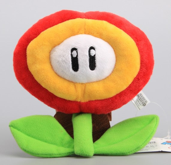 "7"" Fire Flower Super Mario Bros Plush - Plushie Paradise - Plush"