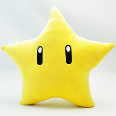 "10.2"" Super Mario Bros Yellow Power Star Plush Pillow - Plushie Paradise - Plush"