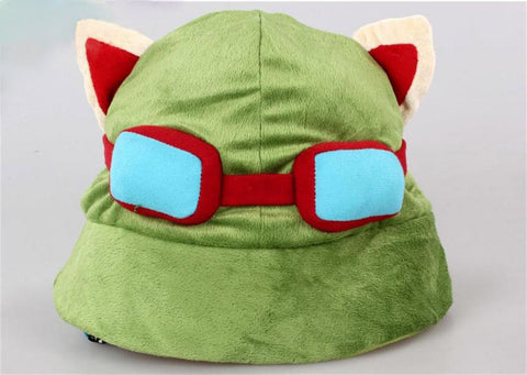 LoL Swift Scout Teemo Cosplay Hat Plush