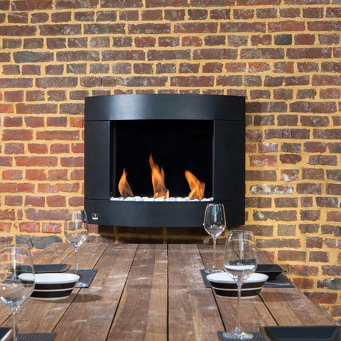 Bio-Blaze Diamond 1 Stainless Steel Bio-Ethanol Wall Fireplace