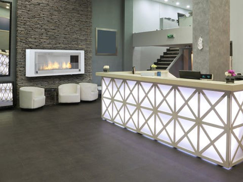 recessed wall fireplace