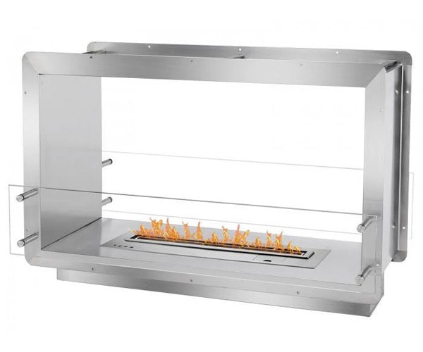 "Ignis 39.5"" Wide Double-Sided Ethanol Burning Smart Firebox"