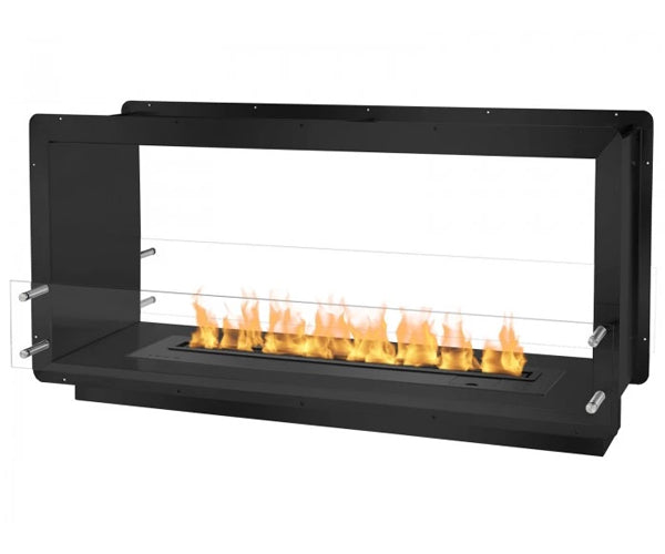 "Ignis 52"" Wide Double-Sided Ethanol Burning Smart Firebox in Black"