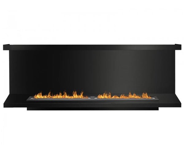 Ignis FB6200-C-Shaped Ethanol Fireplace Insert in Black