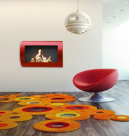 Chelsea Red Wall Mount, Anywhere Fireplace