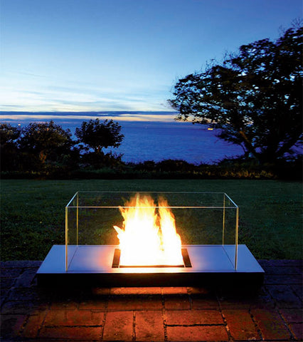 Using an Ethanol Fireplace for Camping