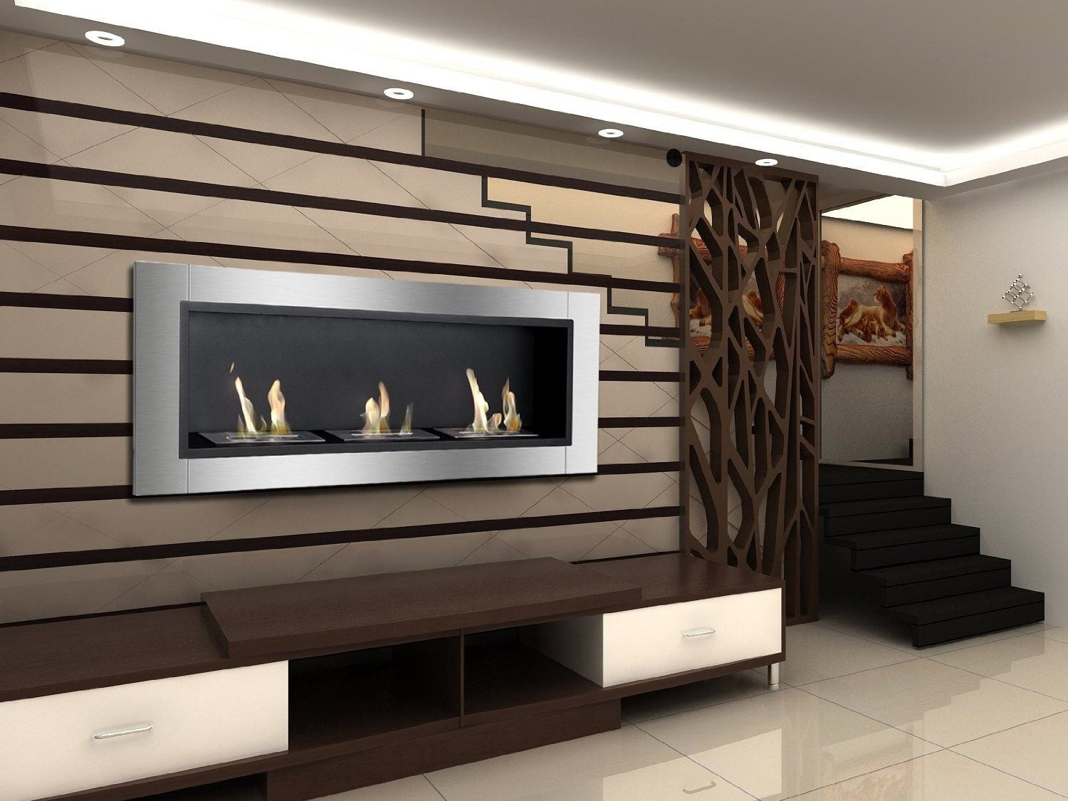 mounted in wall ethanol regal bio inch ventless fargo flame fireplace built recessed p