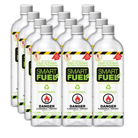 Lumina Smart Ethanol Fuel - 12 x 1 Liter Pack